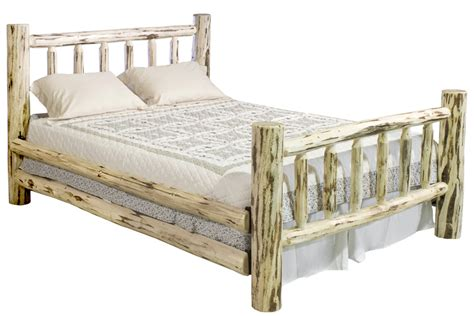 twin log bed unfinished montana log bed twin