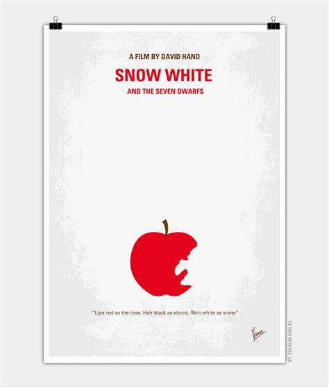 poster layout mac no252 my snow white minimal movie poster chungkong