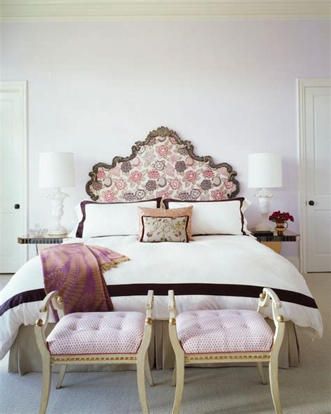 pink and lavender bedroom purple velvet tufted ottomans french living room