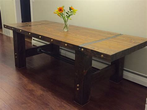 Handmade Farmhouse Table - handmade 8 industrial farmhouse table
