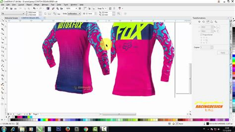 desain jaket jumper corel draw tutorial jersey mx motocross menggunakan coreldraw x7