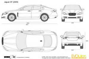 Jaguar Xf Measurements The Blueprints Vector Drawing Jaguar Xf