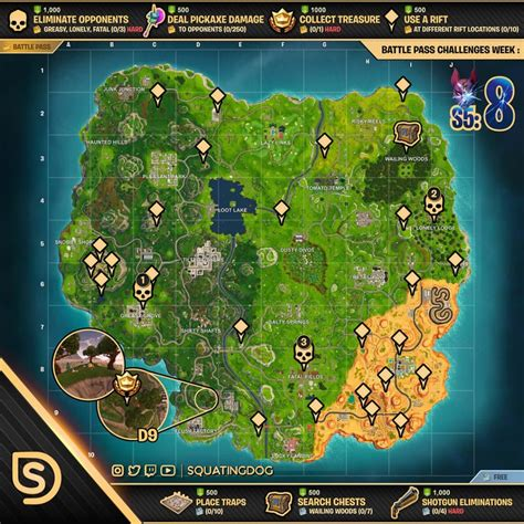 fortnite challenges for season 5 fortnite season 5 week 8 challenges sheet sorrowsnow77