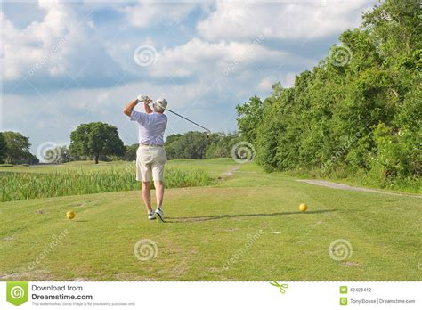 seniors golf swing golf swing stock photo image 42428412