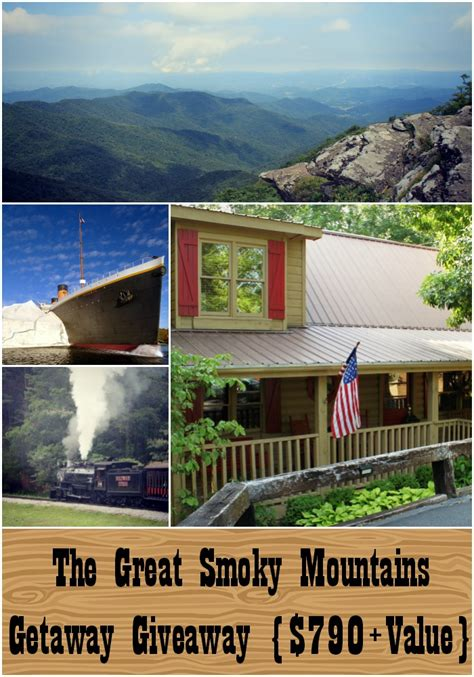 Getaway Giveaway - the great smoky mountains getaway giveaway win a 790 family vacation giveaway