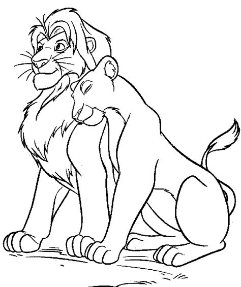 drawing nala and simba coloring child coloring