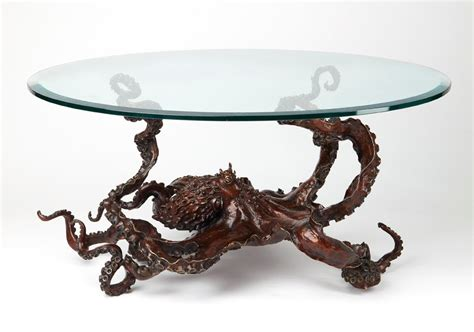 Octopus Coffee Table by Bronze Sculpture Octopus Coffee Table By Kirk Mcguire