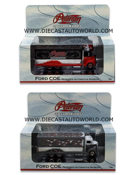 Hotwheels Ford Coe Petersen Automotive Museum mattel wheels 1 64 scale petersen automotive museum 2 pc ford coe up trucks world