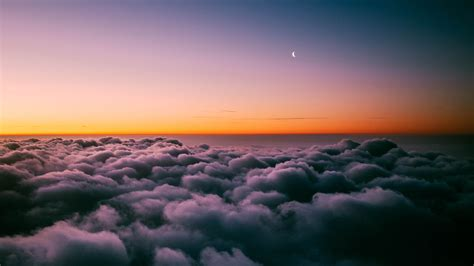sunset horizon  clouds  wallpapers hd wallpapers