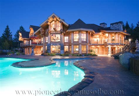 Log Post and Beam Homes Picture Gallery   BC, Canada