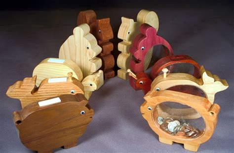 easy gifts  woodworking plan wood banks