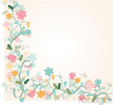 design bolder bunga watercolor floral border background vector vectorlicious