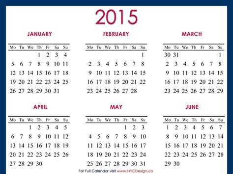 Kalender 2015 A4 2015 Calendar Printable A4 Paper Size Blue By