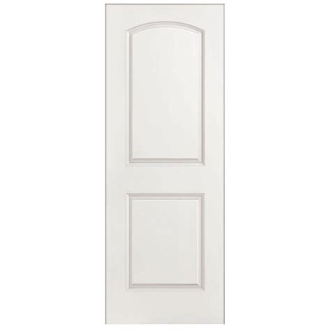 hollow interior doors home depot masonite 32 in x 80 in textured 2 panel arch top hollow