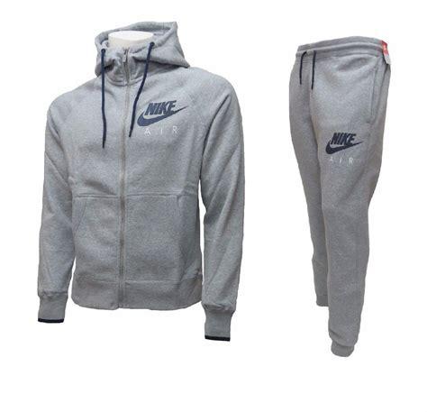 Set Hodie Nike Air Mens Fleece Jog Suit Hooded Swoosh Tracksuit Zip
