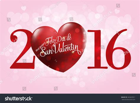 happy san valentin happy valentines day lettering card stock vector