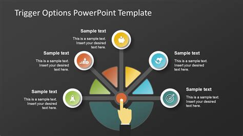 Decision Diagram Triggers Dark Background Slidemodel What Is A Template In Powerpoint