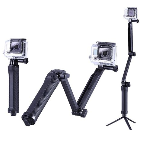 Gopro Tripod Mount 3 way mount tripod monopod for gopro 1 2 3 3 4 go