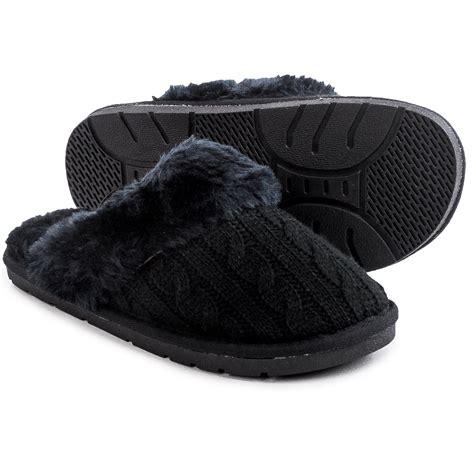 lamo womens slippers lamo footwear knit scuff slippers for save 88