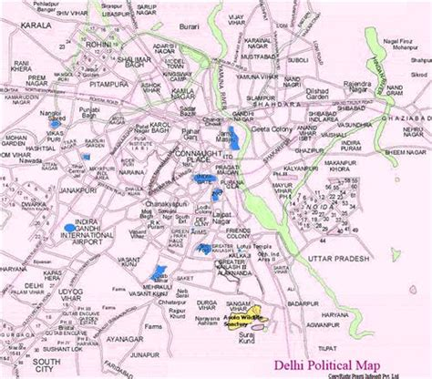 political map of delhi maps of delhi delhi political map delhi tourist road map
