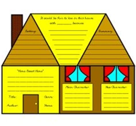 House Book by House Book Report Project Templates Worksheets Grading