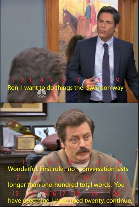 Parks And Rec Meme - ron takes conversation seriously