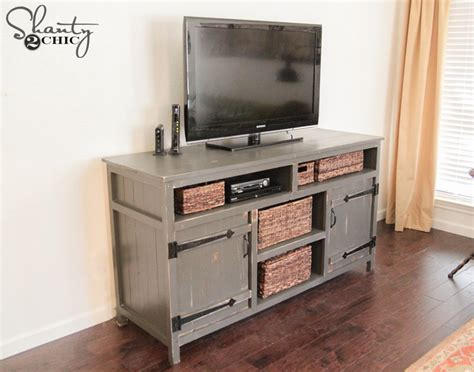 design your own entertainment center free download pdf diy media console free plans shanty 2 chic