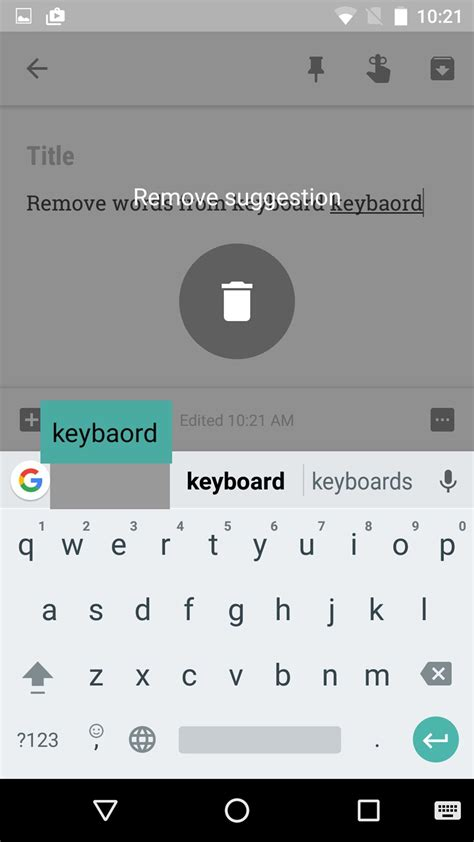 keyboard android how to remove learned words from any keyboard on android the android soul