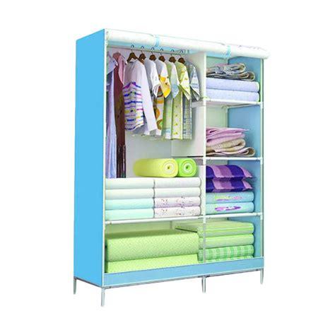 Lemari Portable Pakaian Baju Buku Rak Furniture Tempat Penyimpanan New jual godric motif farmhouse lemari baju 3d rak pakaian