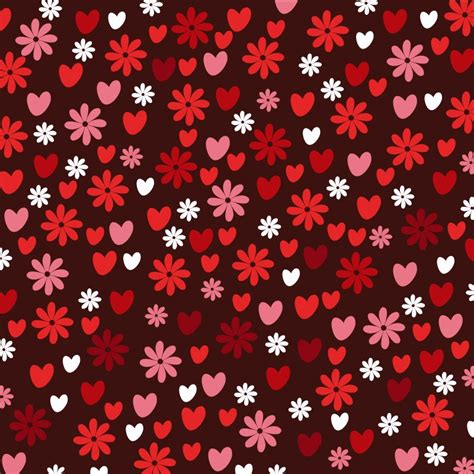 pattern photoshop love love pattern with hearts and flowers photoshop vectors