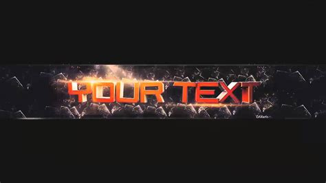 Template Banner Photoshopcs6 Cinema4d 3d Text Youtube 3d Banner Template