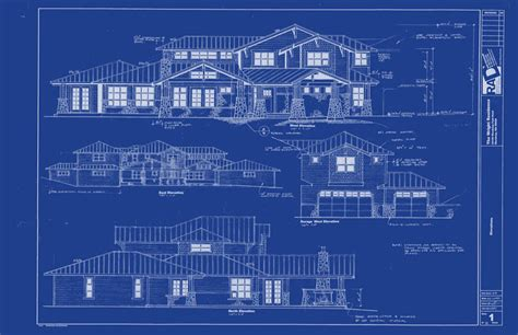 Blue Print Of House by Rad Design
