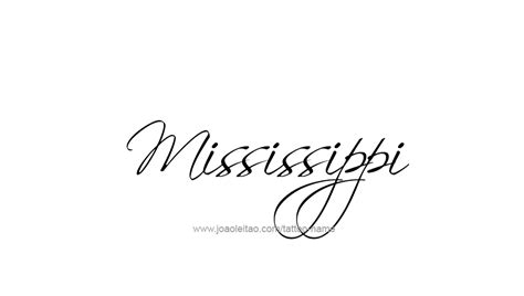 state of mississippi tattoo designs mississippi usa state name designs page 2 of 5