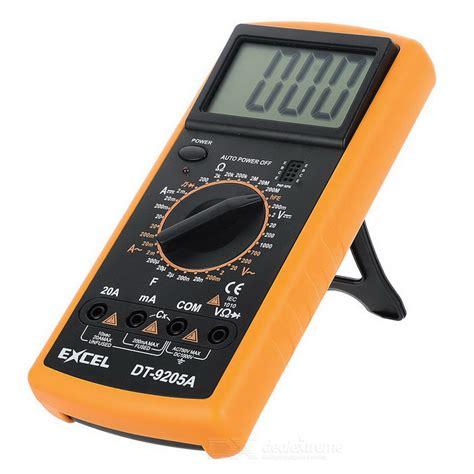 Multimeter Excel excel dt9205a 3 quot lcd digital multimeter black orange 1 x 6f22 worldwide free shipping dx