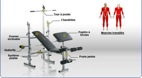 Exercice Sur Banc De Musculation by Fitness Boutique Tapis De Course Velo Elliptique Velo