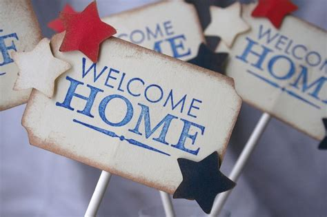 military welcome home decorations welcome home military cupcake toppers usmc homecoming