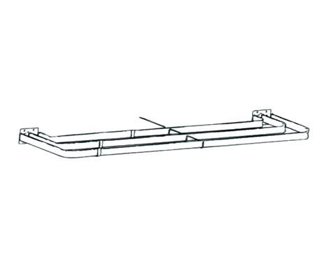 triple traverse curtain rod graber 28 48 inch lock seam triple curtain rod at designer