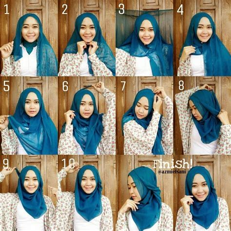 tutorial hijab pashmina zaskia sungkar simple elegan and terbaru hijab tutorials ala zaskia sungkar