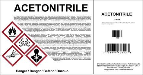 Chemical Labeling Nicelabel Ghs Label Template
