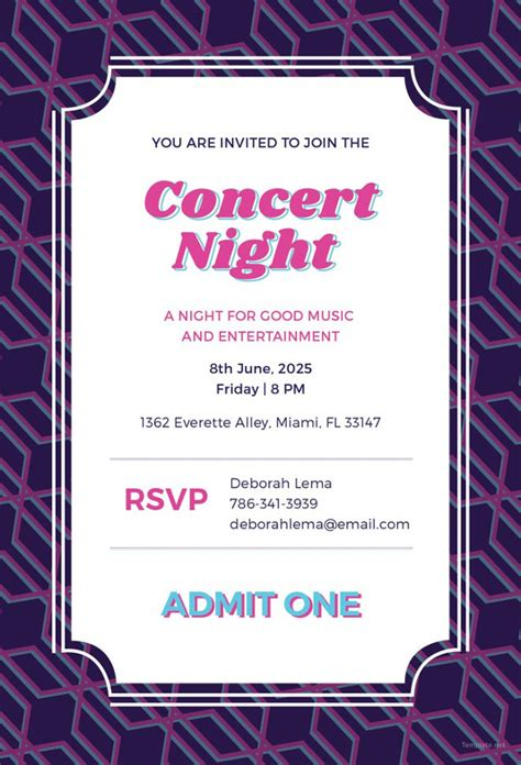 ticket invitation template 59 free psd vector eps ai