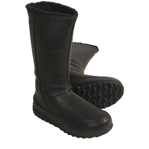 sorel suka boots leather fleece lined for