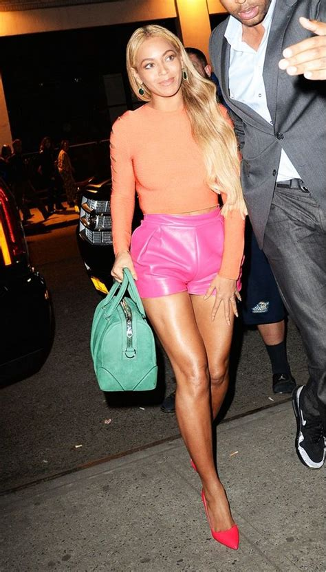Batik Leather Croptop 3 orange crop tops leather shorts and pink leather on