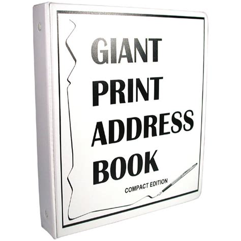 compact edition giant print address book   vision large print address books maxiaids