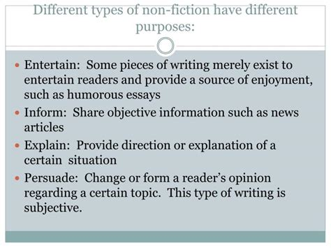 What Are The Different Types Of Essay Writing by Ppt Non Fiction Powerpoint Presentation Id 2567653