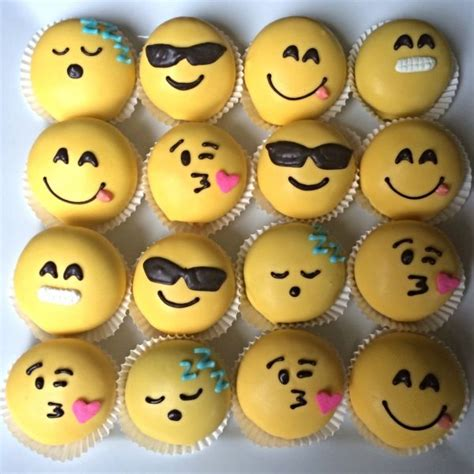 cupcake emoji for iphone emoji cake balls to make your own like this use white dipping chocolate with yellow chocolate