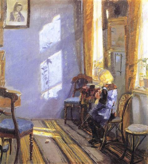 room paintings sunlight in the blue room painting ancher