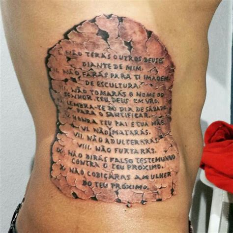 ten commandments tattoo the 10 commandments by cl 233 bio design