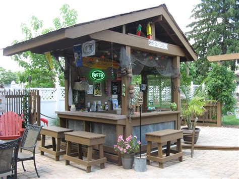 The Backyard Bistro by Backyard Tiki Bar Shed Types Tiki Bars Backyard And Bar