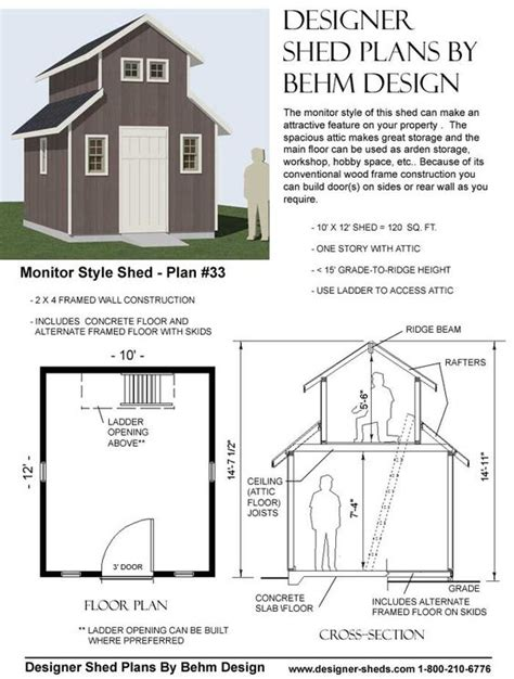 monitor style barn plans monitor style shed plan 33 the mountains pinterest