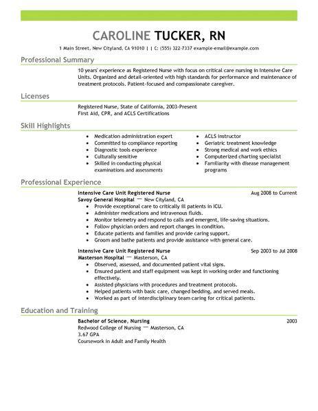 registered nurse resume sample charge occupational examples samples